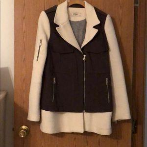 Zara Tweed Utility Jacket